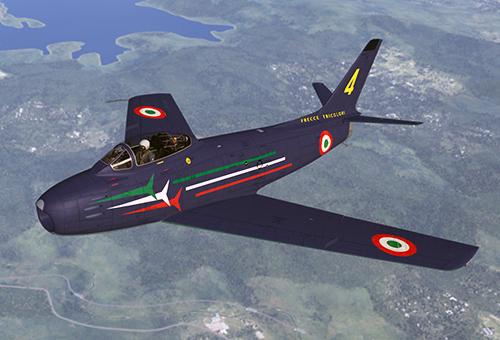f86 Sabre delle Frecce Tricolori, post 1961