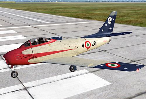 """F86f della Pattuglia Acrobatica """"Cavallino Rampante"""""""